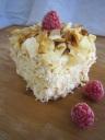 Coconut saffron cake